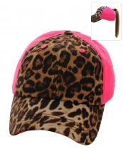 PONY003(HPK)-wholesale-baseball-cap-leopard-pattern-print-ponytail-solid-color-hook-loop-closure-cotton-polyester(0).jpg