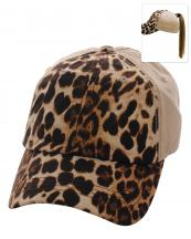 PONY003(KHA)-wholesale-baseball-cap-leopard-pattern-print-ponytail-solid-color-hook-loop-closure-cotton-polyester(0).jpg
