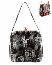 PQ030(BKWT)-wholesale-handbag-michelle-barack-obama-magazine-patent-convertible-handle-rhinestone-gold-frame(0).jpg