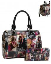 PQ0481W(MUL)-(SET-2PCS)-wholesale-handbag-wallet-michelle-barack-obama-leopard-animal-patent-magazine-vegan-leatherette(0).jpg