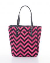 QCP305(FUSBLK)-wholesale-handbag-tote-bag-quilt-quilted-chevron-fabric-embroiderable-buckle-poket-multi-color(0).jpg