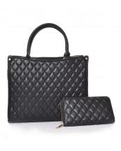 QFS0011W(BK)-2set-wholesale-leatherette-quilted-handbag-wallet-set-2pcs-lgold-metal-compartment-bottom-(0).jpg