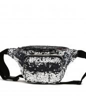 QINS5647(PW)-wholesale-fanny-pack-waist-bag-sequins-patent-leatherette-metallic-shiny-bling-rainbow-zipper-buckle(0).jpg