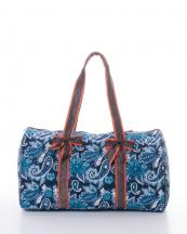 QLP703(NVBR)-wholesale-travel-duffle-bag-Paisley-zipper-quilt-quilted-fabric-embroiderable-bow-ribbon(0).jpg