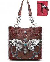 RLW5226(BR)-wholesale-handbag-cross-wings-concho-concealed-croc-alligator-rhinestone-stud-turquoise-stone-chain-(0).jpg