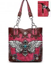 RLW5226(FU)-wholesale-handbag-cross-wings-concho-concealed-croc-alligator-rhinestone-stud-turquoise-stone-chain-(0).jpg