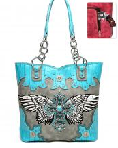 RLW5226(TQ)-wholesale-handbag-cross-wings-concho-concealed-croc-alligator-rhinestone-stud-turquoise-stone-chain-(0).jpg