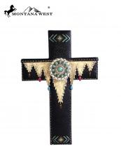 RSD1636(BK)-MW-wholesale-montana-west-wall-cross-11-aztec-texture-resin-silver-turquoise-stone-concho(0).jpg