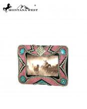 RSP1609(PK)-MW-wholesale-montana-west-photo-frame-6x4-pink-resin-diamond-shape-concho-silver-beaded(0).jpg