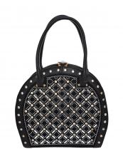 S818(BK)-wholesale-hand-bag-rhinestone-multi-size-stud-diamond-pattern-arranged-gold-frame-greek-key-fashion-(0).jpg