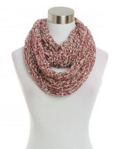 SBE1058(BUR)-wholesale-infinity-scarf-two-tone-embossing-marbled-knit-versatile-acrylic(0).jpg