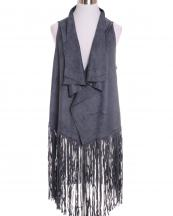 SBV1310(GY)-wholesale-fashion-vest-faux-suede-tassel-solid-polyester-spandex-fringes(0).jpg
