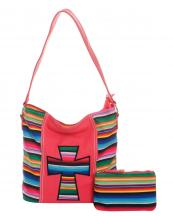 SER25435C(COR)-wholesale-handbag-pouch-bag-set-cross-serape-multicolor-stripe-canvas-fabric-leatherette(0).jpg