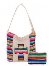 SER25435C(IV)-wholesale-handbag-pouch-bag-set-cross-serape-multicolor-stripe-canvas-fabric-leatherette(0).jpg