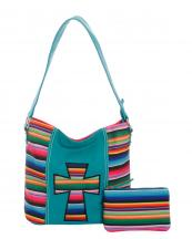 SER25435C(TQ)-wholesale-handbag-pouch-bag-set-cross-serape-multicolor-stripe-canvas-fabric-leatherette(0).jpg