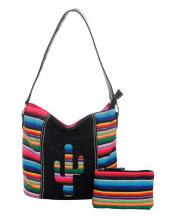 SER5435(BK)-wholesale-handbag-pouch-bag-set-cactus-serape-multicolor-stripe-canvas-fabric-leatherette(0).jpg