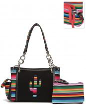 SER8469(BK)-wholesale-handbag-pouch-bag-set-cactus-serape-multicolor-stripe-canvas-fabric-leatherette-concealed(0).jpg