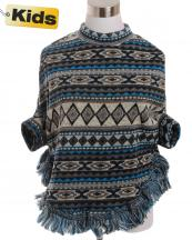 SJB192(BL)-wholesale-poncho-tribal-aztec-fringe-children-kid-one-size-polyester-spandex-warm-put-in-arms-design(0).jpg