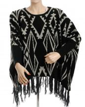 SJP174(BK)-wholesale-poncho-western-knit-arms-included-aztec-tassel-fringe-acrylic(0).jpg