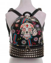 SKU115449L(BK)-wholesale-backpack-sugar-skull-floral-cross-multi-color-leatherette-rhinestones-studs-compartment(0).jpg