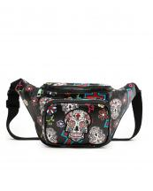 SKU4100(BK)-wholesale-fanny-pack-waist-bag-sugar-skull-cross-floral-multicolor-zipper-pocket-leatherette-buckle(0).jpg