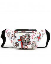 SKU4100(WT)-wholesale-fanny-pack-waist-bag-sugar-skull-cross-floral-multicolor-zipper-pocket-leatherette-buckle(0).jpg
