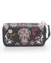SKU4300(BK)-wholesale-sugar-skull-wallet-leatherette-studs-floral-zipper-wristlet-strip-cross(0).jpg