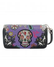 SKU4300(PP)-wholesale-sugar-skull-wallet-leatherette-studs-floral-zipper-wristlet-strip-cross(0).jpg