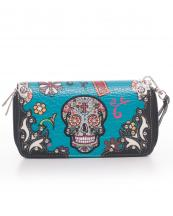 SKU4300(TL)-wholesale-sugar-skull-wallet-leatherette-studs-floral-zipper-wristlet-strip-cross(0).jpg