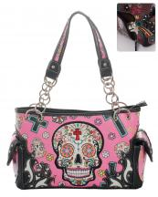SKU48469(FU)-S07-wholesale-faux-leather-concealed-carry-gun-handbag-studded-western-sugar-skull-floral--(0).jpg