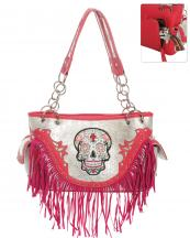 SKU68469F(FU)-wholesale-handbag-leatherette-sugar-skull-fringe-cross-floral-rhinestone-studs-multi-color-snake(0).jpg