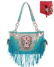 SKU68469F(TQ)-wholesale-handbag-leatherette-sugar-skull-fringe-cross-floral-rhinestone-studs-multi-color-snake(0).jpg