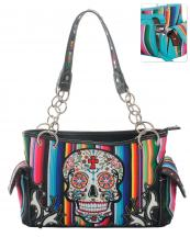 SKU98469(BK)-wholesale-handbag-sugar-skull-multicolor-serape-floral-cross-stripe-studs-rhinestone-concealed-chain(0).jpg