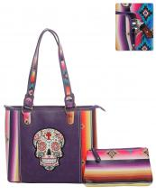 SKUS5435(PP)-wholesale-bandbag-set-2pcs-sugar-skull-serape-aztec-pouch-bag-floral-cross-multicolor-embroidered(0).jpg