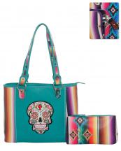 SKUS5435(TQ)-wholesale-bandbag-set-2pcs-sugar-skull-serape-aztec-pouch-bag-floral-cross-multicolor-embroidered(0).jpg