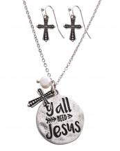 SS0439(SB)-wholesale-necklace-earrings-set-yall-need-jesus-cross-arrow-pendant-metal-chain-circle-lobster-clasp(0).jpg