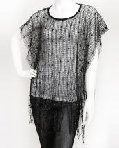 SWP924(BK)-wholesale-poncho-plain-basic-net-mesh-squin-small-pompoms-fringe-polyester-sheer-(0).jpg