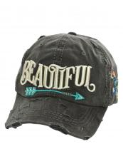 T13BEA01(BK)-wholesale-cap-beautiful-arrow-life-floral-emboss-embroidered-multicolor-vintage-torn-baseball-cotton(0).jpg