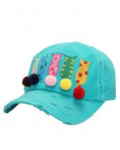T13CAT01(TQ)-wholesale-cap-cat-mom-star-patteren-pompom-embroidery-multicolor-vintage-torn-stitch-baseball-cotton(0).jpg