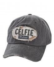 T13CEL01(DGY)-wholesale-baseball-cap-celfie-hashtag-follow-celifie-cotton-vintage-torn-embroidery-hook-loop(0).jpg