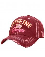 T13COF02(BUR)-wholesale-cap-caffeine-queen-crown-embroidered-baseball-vintage-torn-stitch-cotton-pink-embossed-(0).jpg