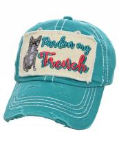 T13DOG02(TQ)-W91-wholesale-cap-pardon-my-french-dog-glasses-embroidered-baseball-vintage-torn-stitch-cotton-bulldog(0).jpg