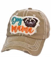 T13DOG03(KHA)-wholesale-cap-dog-mama-pug-face-embossed-embroidered-baseball-vintage-torn-stitch-cotton-multicolor(0).jpg