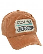 T13FLW01(TOG)-wholesale-baseball-cap-follow-your-arrow-embroidered-vintage-torn-cotton-hook-loop-closure(0).jpg