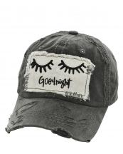 T13GNT01(BK)-wholesale-cap-good-night-eyelash-embroidered-stitch-vintage-torn-baseball-cotton-hook-loop-closure(0).jpg
