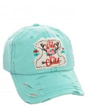 T13LIV02(MTMT)-W10-wholesale-baseball-cap-stay-wild-my-child-arrow-deer-antler-floral-cotton-vintage-torn-embroidered-(0).jpg