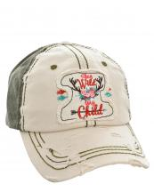 T13LIV02(STOV)-W10-wholesale-baseball-cap-stay-wild-my-child-arrow-deer-antler-floral-cotton-vintage-torn-embroidered-(0).jpg