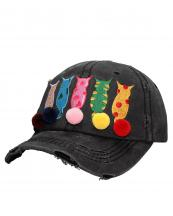 T13LOV05(BK)-wholesale-cap-cat-mom-star-patteren-pompom-embroidery-multicolor-vintage-torn-stitch-baseball-cotton(0).jpg