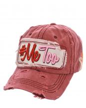 T13MET01(BUR)-wholesale-cap-hashtag-me-too-raising-hands-two-color-emboss-embroidered-vintage-torn-baseball-cotton(0).jpg
