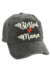 T13MOM05(BK)-wholesale-cap-bless-mama-arrow-heart-emboss-embroidered-multi-color-vintage-torn-baseball-cotton(0).jpg